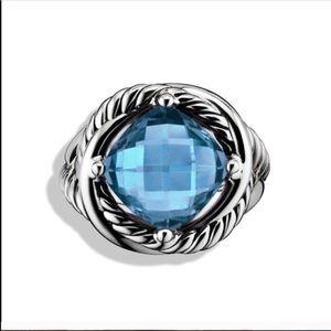 DAVID YURMAN Infinity Blue Topaz Ring Size 6.5